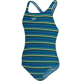 speedo Printed Medalist Swimsuit Women, blu/colorato